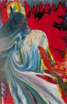 Dipinto: Emozioni in rosso, smalto su tela