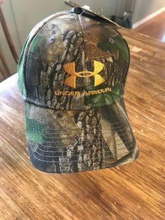 a1a2cbc01995c Mens Under Armour Real Tree Camo Cap Hat Lid Adjustable Hunting Gear NWT  New.