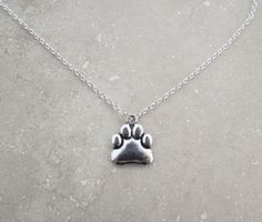 Animal Charity Paw Necklace, Animal Rescue, 50 Percent to Charity, Saving Dogs, Saving Animals, Animal Advocacy, Please help fight for them