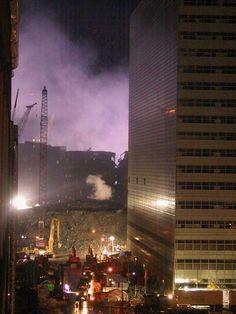 WTC 7, 1:30 AM,October 2, 2001. World Trade Center Buildings, 11 September 2001, We Will Never Forget, Solomon, Firefighter, Zero, History, Travel, Beauty