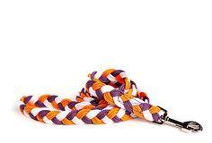 If I only had a dog... Dog Sailor's Knot Lead, Plum/Orange (Hokie colors!)