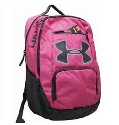 ac0c4a67740 Under Armour UA Relentless Storm 1 Big Logo Pink Black Backpack 1284002-652   Underarmour
