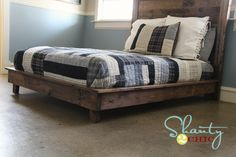 PB Teen Inspired Platform bed. Collaboration between Shanty 2 CHIC and Ana White. . .cost?? $70 for all materials. Plans are free @ Ana-white.com and there are plans for twin size as well.