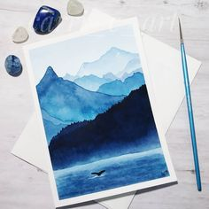 Notecard / Flashcard Tips for learning Art And Illustration, Illustrations, Watercolor Landscape, Watercolor Paintings, Watercolors, Painting Inspiration, Art Inspo, Kunst Inspo, Aesthetic Painting