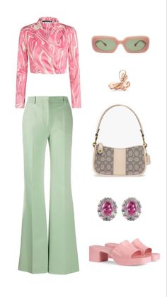 Pink Outfits, Fall Outfits, Vintage Outfits, Cute Outfits, Fashion Outfits, Fashion Forms, Aesthetic Fashion, Bougie Outfits, Polyvore Outfits