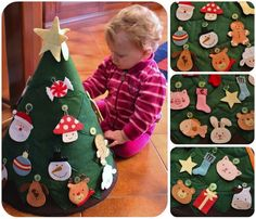 Toddler Christmas Tree Craft - Idea for Advent or Jesse Tree- link is dead but love the craft idea- my g'ma would've loved this