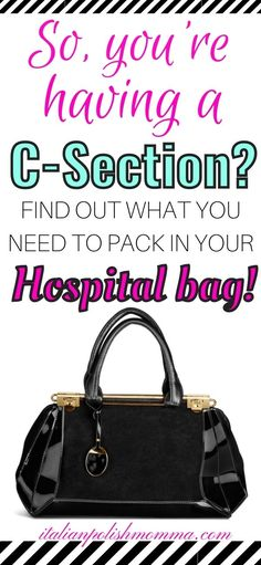 Are you having a scheduled c-section and worried about what to pack in your hospital bag? Here is exaclty what you need to pack to help you prepare for your c-section delivery and c-section recovery! C-section hospital bag tips from a mom that had 4 c-section deliveries! Hospital Bag C Section, Hospital Bag For Mom To Be, Breastfeeding After C Section, Breastfeeding Tips, C Section Workout, Scheduled C Section, Hospital Bag Checklist, Pregnancy Advice, Trimesters Of Pregnancy