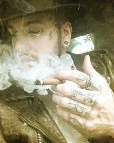Smokin' a faaat blunt. S'how I do.