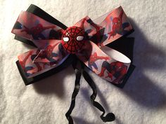 A personal favorite from my Etsy shop https://www.etsy.com/listing/502765512/spiderman1-hair-bow