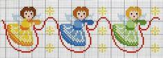 Χειροτεχνήματα: σχέδια με αγγελάκια για κέντημα / angel cross stitch patterns