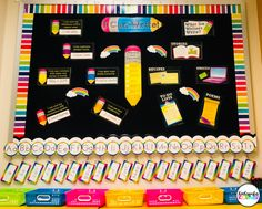4 Reasons to Switch to a Portable Word Wall - Kindergarten Korner Portable Word Walls, Word Wall Kindergarten, Interactive Word Wall, Classroom Themes, Classroom Word Wall, Classroom Design, Rainbow Words, Library Labels, Letter Formation