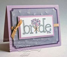 Greeting Card Bride to Be Congratulations Wedding by JanTink, $5.95