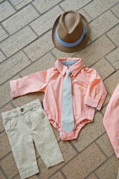 Andy & Evan Easter Orange Onesie Shirt 3 to 24 Months  Hat, Tie & Pant sold SeparatelyNow In Stock