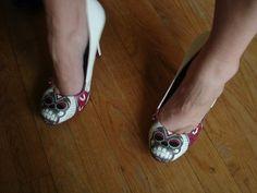 Sugar skull heels for Dia de los Muertos