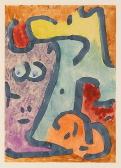Paul Klee (1879-1940) DIE SCHATTIGE (THE SHADOWY ONE) 1939 watercolour on Japan paper 29.5 x 20.9 cm