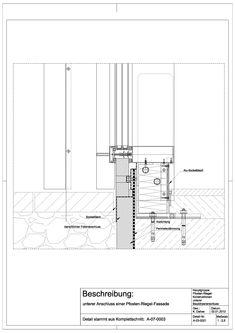 A-03-0021 unterer Anschluss einer Pfosten- Riegel- Fassade-A-03-0021