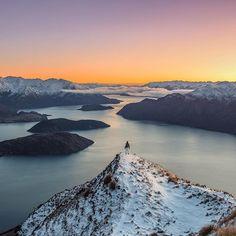 Pre-sunrise a top of Roy's Peak - take me back! @lakewanakanz @purenewzealand #nzmustdo by shaun_jeffers