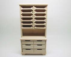 Miniature dollhouse unfinished shelf for shop  - code. VMJ1515 di viliaminiature su Etsy