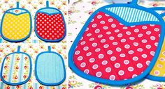 Retro Fun: Quilted Mitt Pot Holders   Sew4Home