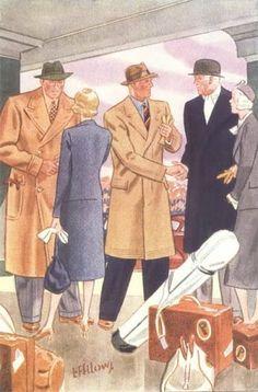 1930s mens polo coats