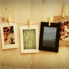 Pegs & Strings! Get more ideas here: http://pspostcards.tumblr.com/post/67764662646/how-to-display-your-ps-postcards