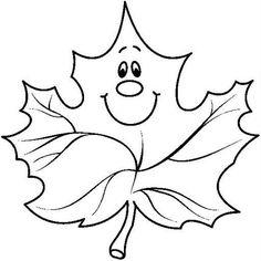 Feuille d'automne à utiliser pour bricolage avec enfants Fall Arts And Crafts, Autumn Crafts, Autumn Art, Rock Crafts, Autumn Trees, Felt Patterns, Applique Patterns, Fall Coloring Pages, Coloring Books