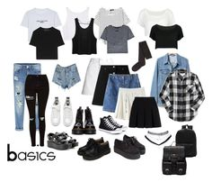 """""""BASICS"""" by cooltured on Polyvore featuring moda, WithChic, Proenza Schouler, Miss Selfridge, Chicnova Fashion, Topshop, Tod's, Dr. Martens, Gap y H&M"""