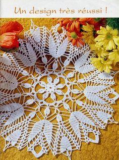 Home Decor Crochet Patterns Part 4 - Beautiful Crochet Patterns and Knitting Patterns Crochet Books, Crochet Home, Love Crochet, Thread Crochet, Crochet Motif, Beautiful Crochet, Crochet Crafts, Crochet Projects, Doily Patterns