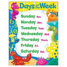 School's in session when Sea Buddies™ help set the stage for learning the days of the week and their abbreviations. Designed to make learning fun. Extra Value: Reproducibles on back. Measures x Coordinates with Sea Buddies™ Collection. Kids Background, Classroom Decor Themes, Sea Theme, Ocean Themes, Free Activities, Animal Decor, Online Craft Store, Bright, Childhood Education