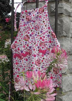 Pink Panther Preschool Girls Aprons by CoverMeAprons on Etsy, $19.95