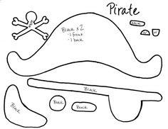 Gorros de piratas para imprimir - Imagui                                                                                                                                                     Más
