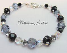 Rare Cosmo Jet Swarovski Crystal Bracelet by Bellissima Jewelers, $79.00 - 25% off through tomorrow, Sept 16, 2013