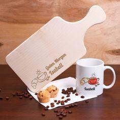 Was macht einen guten Morgen aus? Richtig das Besteck. Denn ohne Besteck kann man keinen Kaffee trinken oder entspannt sein Brötchen schmieren. Aus diesem Grund, entstand dieses Frühstücksset um Ihren Morgen noch genussvoller zu gestalten! Denn was ist schöner als ein Brett dieses dir schon zur frühen Stunde Guten Morgen wünscht? Richtig, nichts.