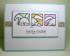Clean&Simple 178 - Happy Easter by Ardyth - Cards and Paper Crafts at Splitcoaststampers Decoracion Habitacion Ideas, Handmade Card Making, Card Sketches, Card Tags, Creative Cards, Greeting Cards Handmade, Diy Cards, Scrapbook Cards, Homemade Cards