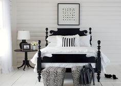 black bed/ethan allen
