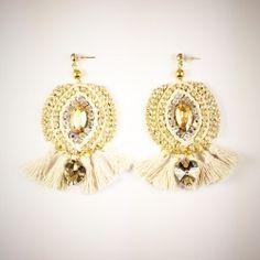 Náušnice Earrings Handmade, Jewelry Art, Crochet Earrings, Crystals, Fashion, Moda, Fashion Styles, Crystal, Fashion Illustrations