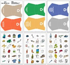 Free printable recycling game for kids. Just print the template, cut the tokens and play! Good for introducing the recycling basics and also as an Earth day activity for kids. Recycling Games, Recycling Activities For Kids, Recycling For Kids, Recycling Bins, Educational Activities, Toddler Activities, Art For Kids, Crafts For Kids, Sorting Games