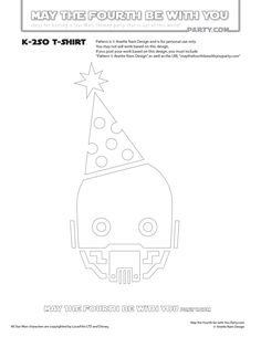 DIY K-2SO May the Fourth be with You Party Star Wars Day T-shirt/Stencil Pattern. This and many other patterns can be downloaded FREE from our blog. / Note: Patterns are ©, and your work must include © if posted, and can not be sold. See blog for complete ©/ #k2so #starwars #tshirt #starwarsparty #rogueone #maythefourthbewithyou #maythe4th #maythefourth #starwarscostume #pattern #maythe4thbewithyou #stencil #silkscreen #silhouettecameo maythefourthbewithyoupartyblog.com