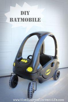 the Diary of DavesWife: DIY Batman & Batmobile  @Sophie Jackson