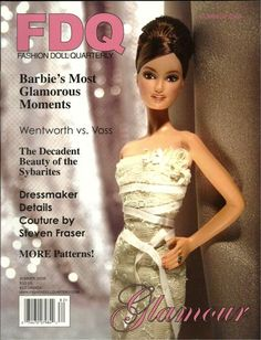 "FDQ Doll Magazine 2008 Summer Sybarite Pattern Doll Articles Dollikin Doll Ads | eBay E-Z Glam Blouse and Skirt for 11.5"" Barbie and Midge    Faux Fur Coat for 16"" Fashion Dolls by Angela Wade  Sybarite by Candlelight evening gown pattern by Pam Tobey"