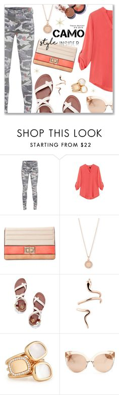 """Go Camo"" by dressedbyrose on Polyvore featuring True Religion, Melie Bianco, Astley Clarke, Tory Burch, Roberto Coin, Linda Farrow and camostyle"