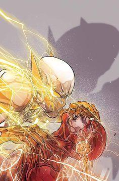 The Flash Vs Godspeed Kid Flash, Flash Art, Dc Comic Books, Comic Book Covers, Comic Art, Flash Barry Allen, Comics Anime, Comic Manga, Flash Comics