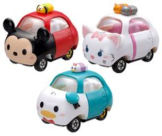 Tomica Disney Motor Tsum Tsum will be released in of April 2015 for 800 Yen. There are total of 8 in this series Mickey, Marie an. Disney Vans, Cute Disney, Disney Mickey, Disney Pixar, Mickey Mouse, Disney Characters, Tsum Tsum Toys, Tsum Tsum Party, Disney Tsum Tsum