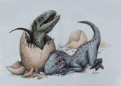 The Indominus Rex Siblings. Jurassic World . july 2015 . http://mariolanzas.tumblr.com/