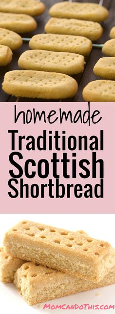 Easy Shortbread Cookie Recipe for buttery homemade shortbread cookies. Traditional Scottish Shortbread recipe.