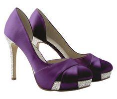 Christy Purple Satin Silver Bride Bridesmaid Wedding Shoe BY Rainbow Club |  EBay