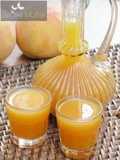 ev yapımı  şeftali meyve suyu