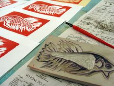 reduction relief printing | Flickr - Photo Sharing!