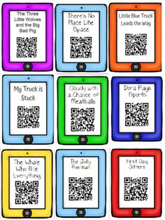QR Code Read Aloud Listening Centers Sample from Anchors and ABCs on TeachersNotebook.com (4 pages)