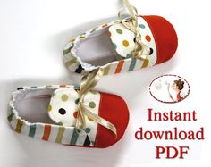 Instant download Sewing Pattern. Baby Paul Shoes. Booties pattern. Boy pattern, Baby shoes